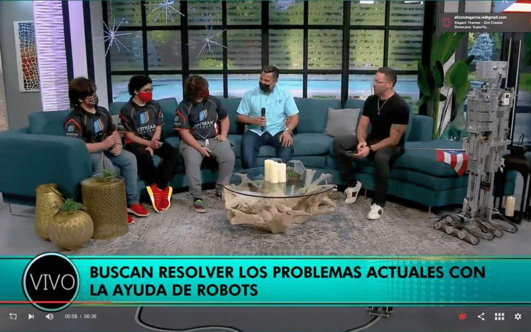 Estudiantes representarán a Puerto Rico en competencia de robótica – Entrevista oficial de wapa.tv